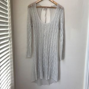 Free People angora sweater dress Size M
